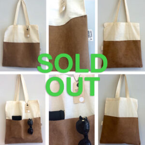 Tote bag brown suede